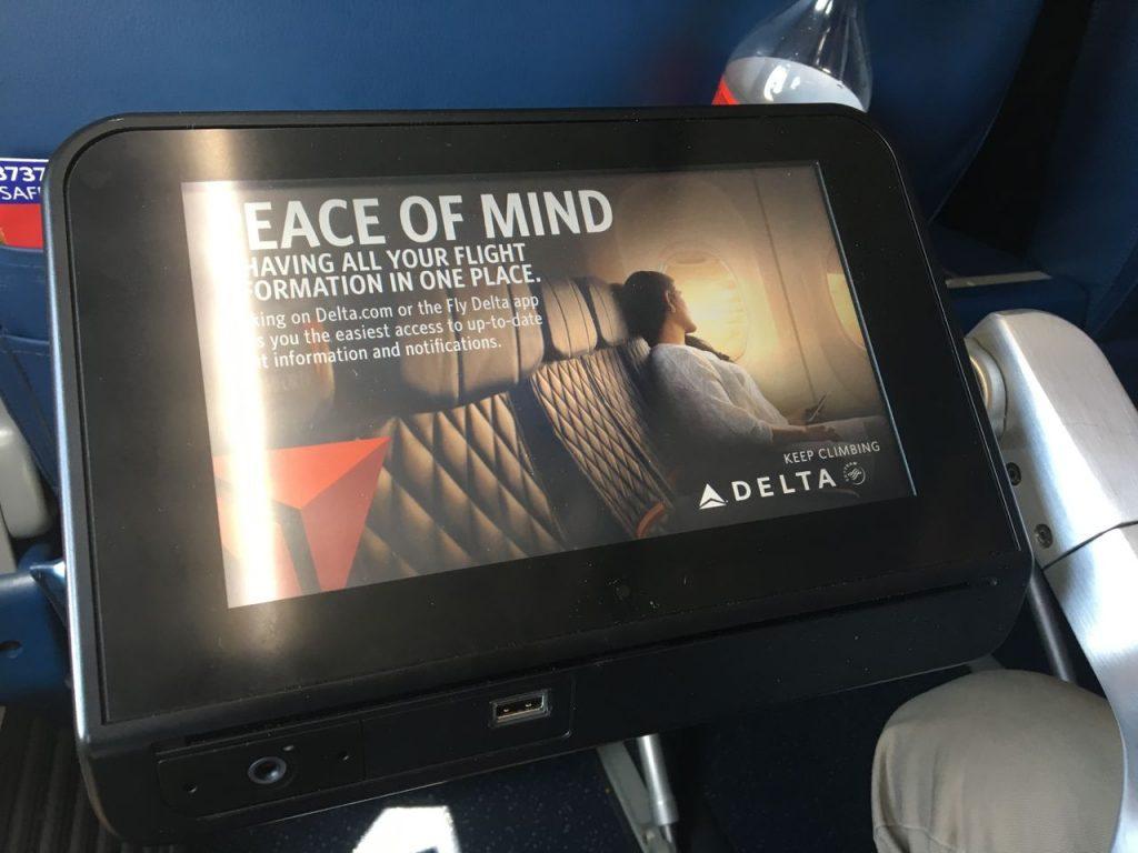 Delta Air Lines Boeing 737-900ER Premium Economy (Comfort+) Class Panasonic IFE Photos