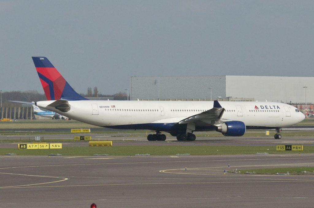 Delta Air Lines Fleet Airbus A330-300; N810NW @AMS
