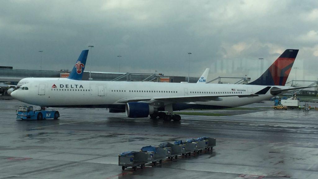 Delta Air Lines Fleet Airbus A330-300 N810NW Amsterdam Schipol to Boston