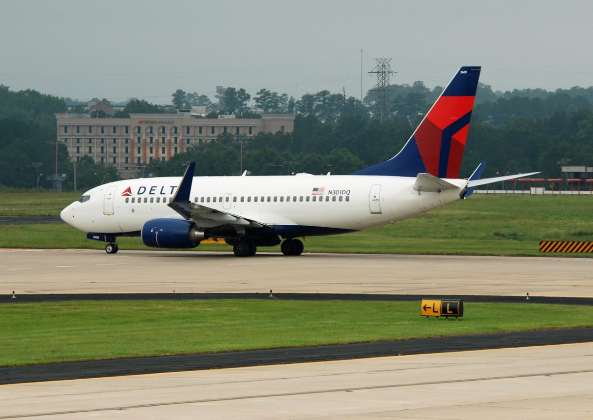 Delta Air Lines Fleet Boeing 737-732 N301DQ cn:serial number- 29687:2667 Taxiing Runway Ready to take off