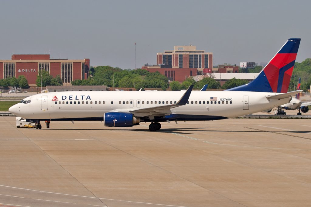 Delta Air Lines Fleet Boeing 737-800NG N3760C, Hartsfield–Jackson Atlanta International Airport, (ATL)