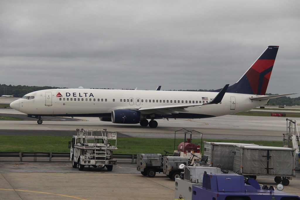 Delta Air Lines Fleet N3743H Boeing 737-800WL At Hartsfield-Jackson Atlanta International