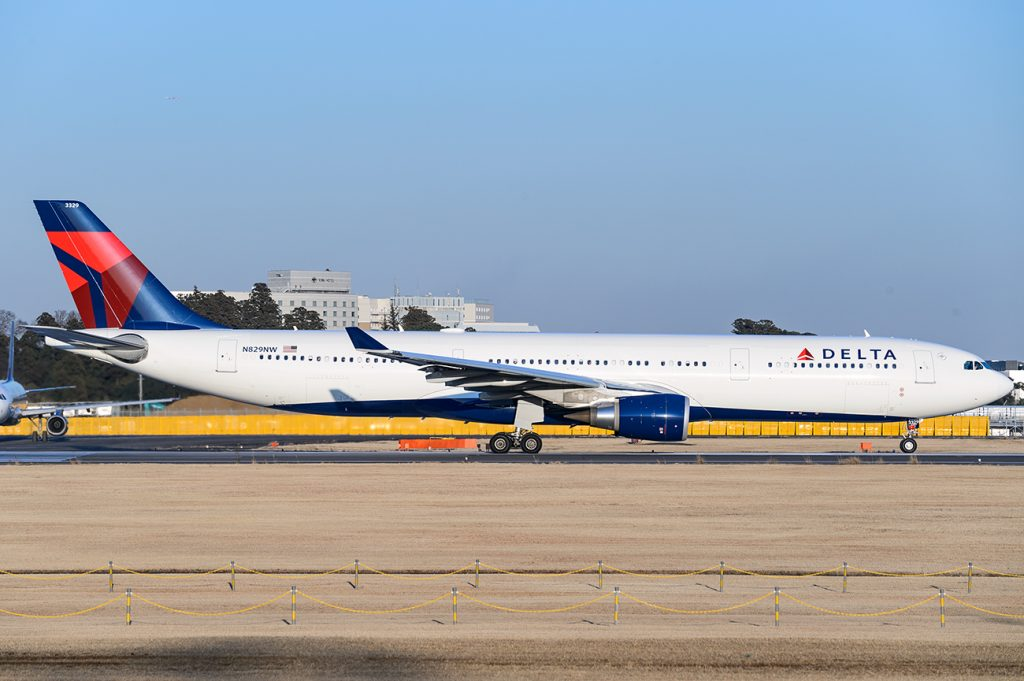 Delta Air Lines Wide Body Aircraft Airbus A330-300 N829NW at Tokyo Japan