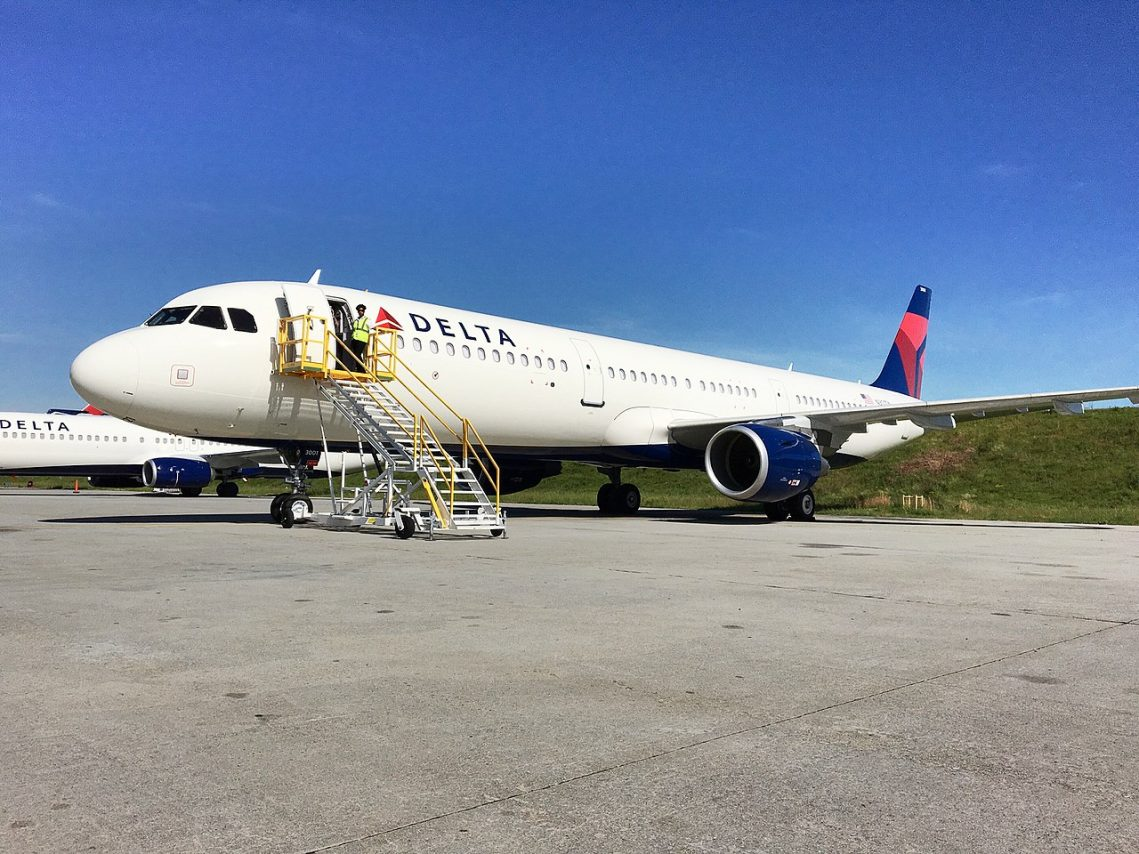 Delta Air Lines first Airbus A321-200 (N301DN) at Hartsfield-Jackson International airport