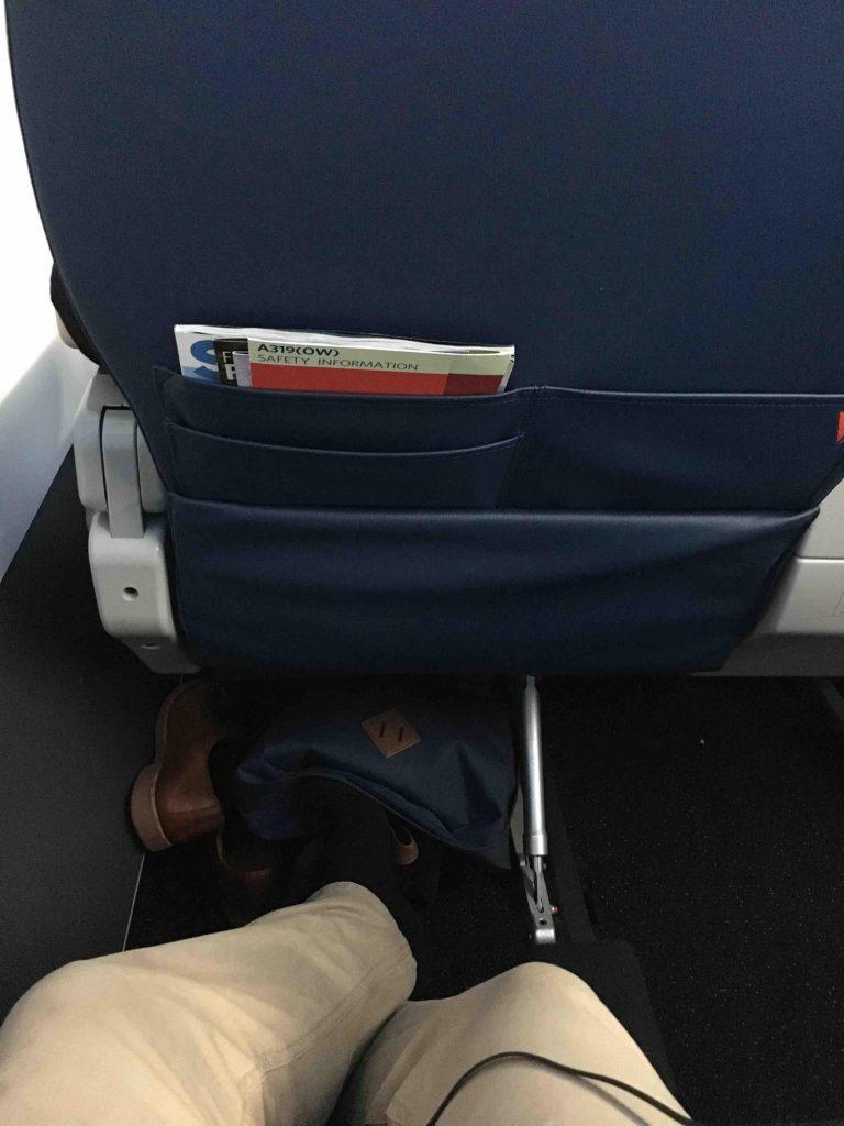 Delta Airlines Airbus A319-100 Economy Comfort+ Seats Legroom