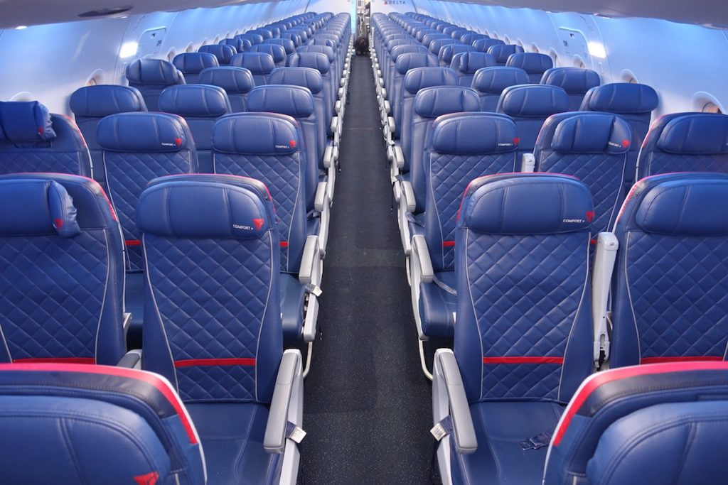 Delta Airlines Airbus A319-100 Main Cabin Interior Standard Economy Seats 3-3 Layout