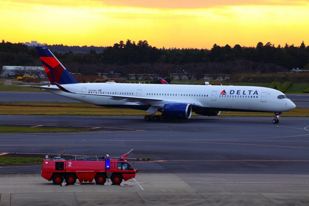 Delta Airlines Fleet Wide Body Aircraft Airbus A350-941XWB (registered N502DN)