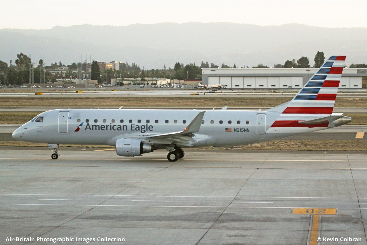 Embraer ERJ-170-200LR (ERJ-175) N215NN · American Eagle - Compass Airlines (CP : CPZ) · San Jose - International (Norman Y Mineta) (SJC : KSJC), USA - California @Kevin Colbran