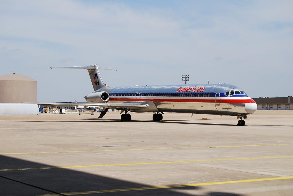 McDonnell Douglas MD-80, American Airlines Sitting in the Texas sunshine at DFW