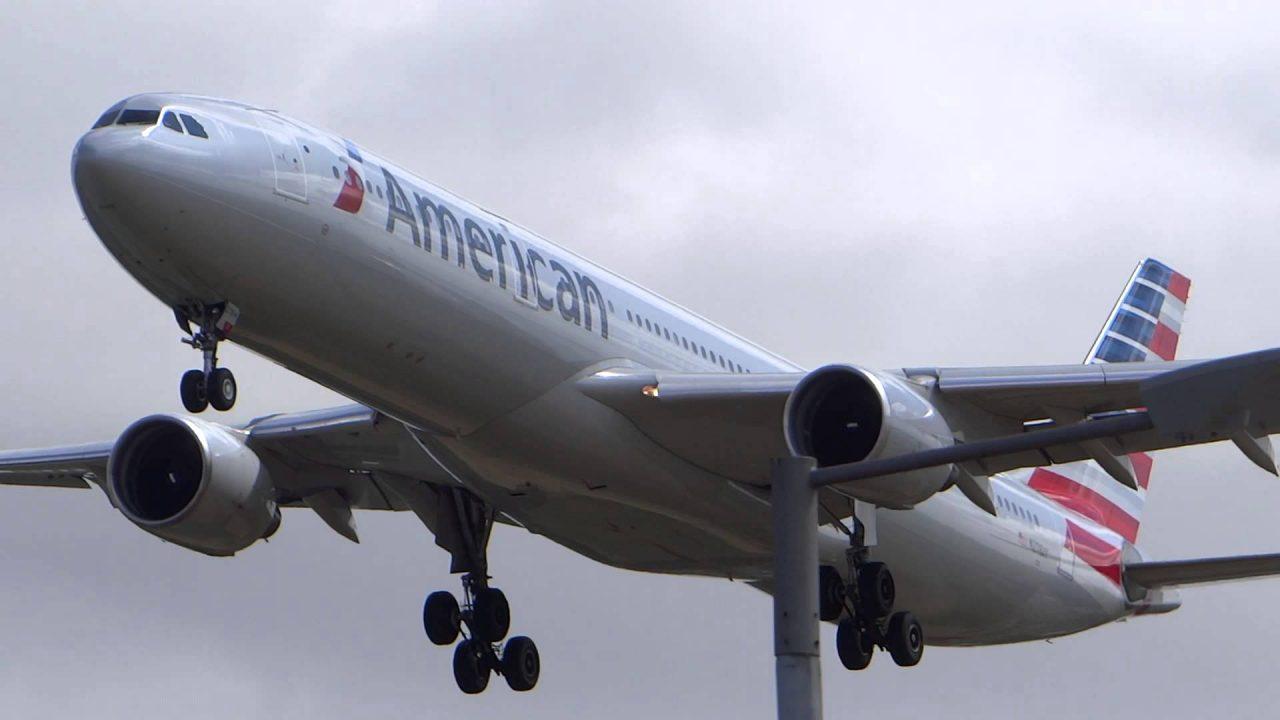 N278AY American Airlines Airbus A330-300 Landing at London Heathrow Airport