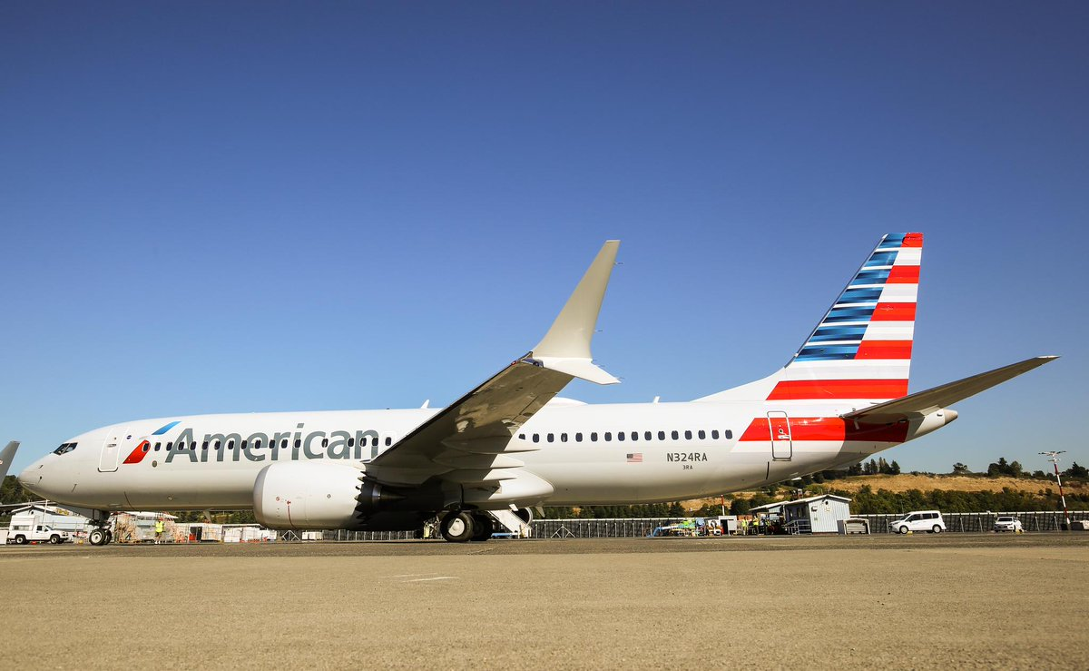 N324RA First Boeing 737 MAX 8 for American Airlines