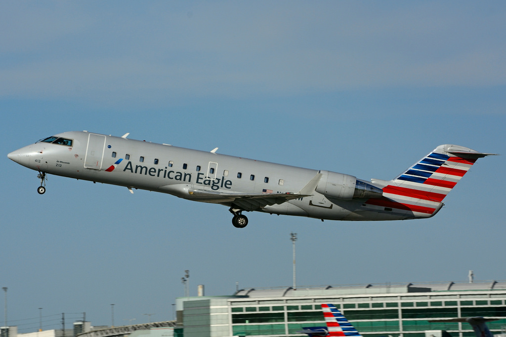 N412AW - Canadair CRJ-200ER - American Eagle (operated by Air Wisconsin) at Toronto Lester B. Pearson Airport (YYZ)
