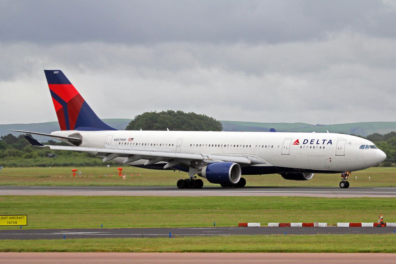 N857NW Airbus A330-223 Delta Air Lines Wide Body Fleet at Manchester Airport