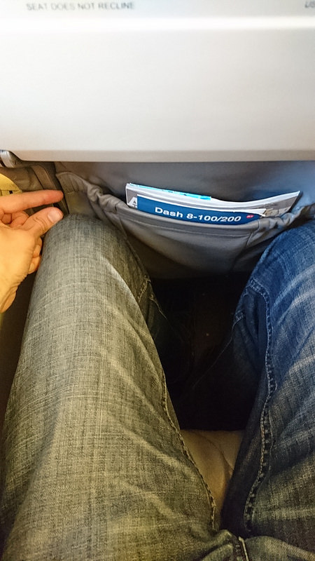 Piedmont Airlines American Eagle Dash 8-100 Economy Seats Legroom Photos