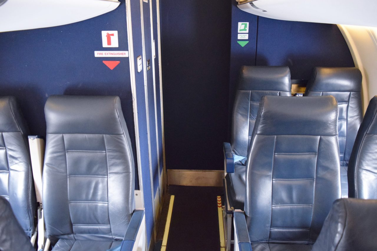 The worst seats on an American Eagle Airlines Bombardier CRJ-200- Rows 13-14