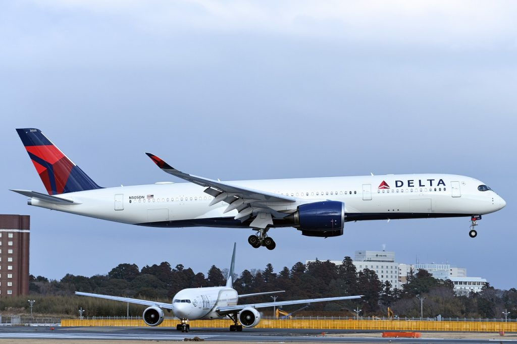 Wide Body Aircraft Airbus A350-941 Delta Air Lines Fleet N505DN