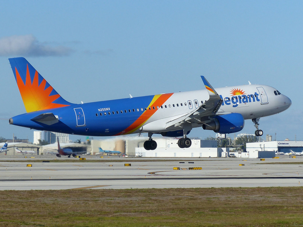 n255nv airbus a320-200 allegiant air sharklets