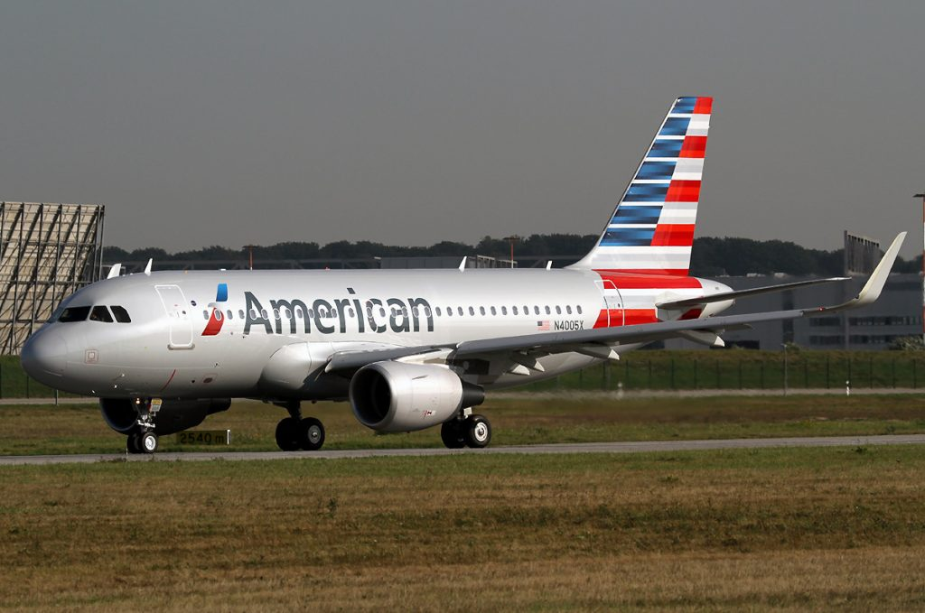 n4005x American Airlines Airbus A319-112wl