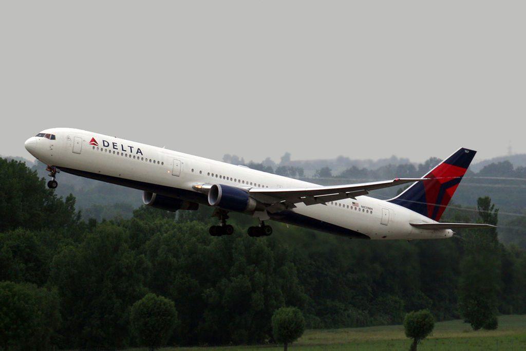 Boeing 767-432ER Delta Air Lines Fleet N831MH at Munich Airport (IATA- MUC, ICAO- EDDM) Flughafen München