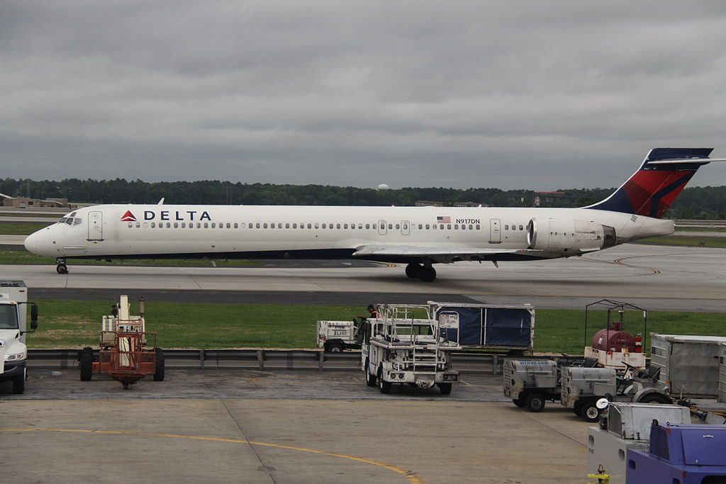 Delta Air Lines Aircraft Fleet McDonnell Douglas MD-90-30 N917DN At Hartsfield-Jackson Atlanta International