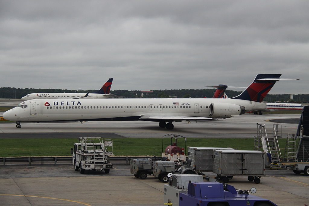 Delta Air Lines Aircraft Fleet McDonnell Douglas MD-90-30 N918DH At Hartsfield-Jackson Atlanta International
