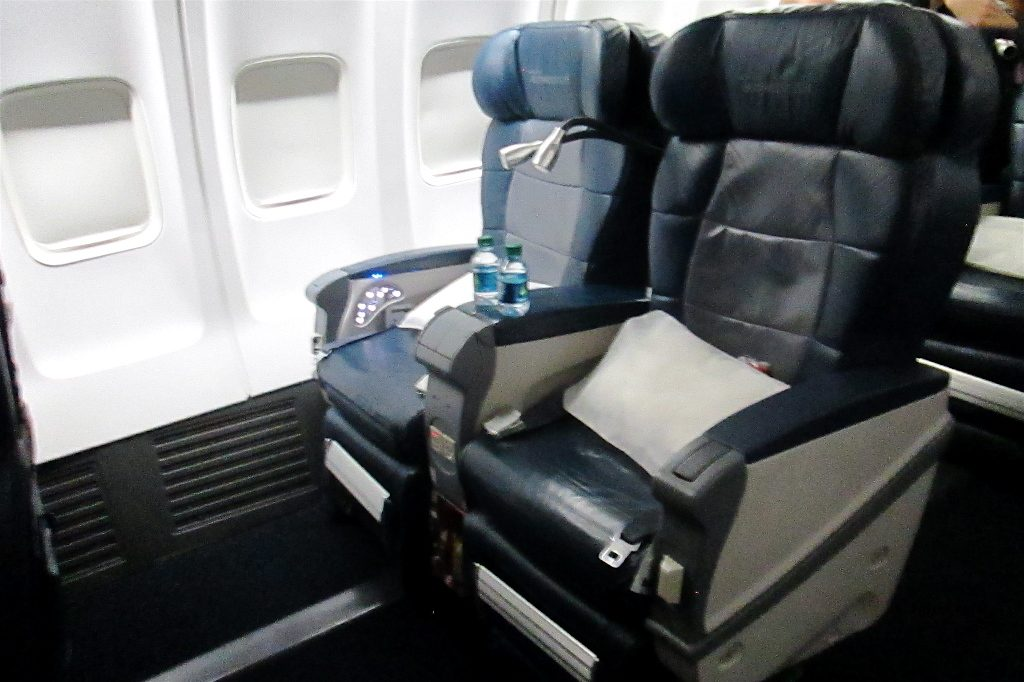 Delta Air Lines Boeing 757-200 Business Elite Class Old Seats Configuration Photos