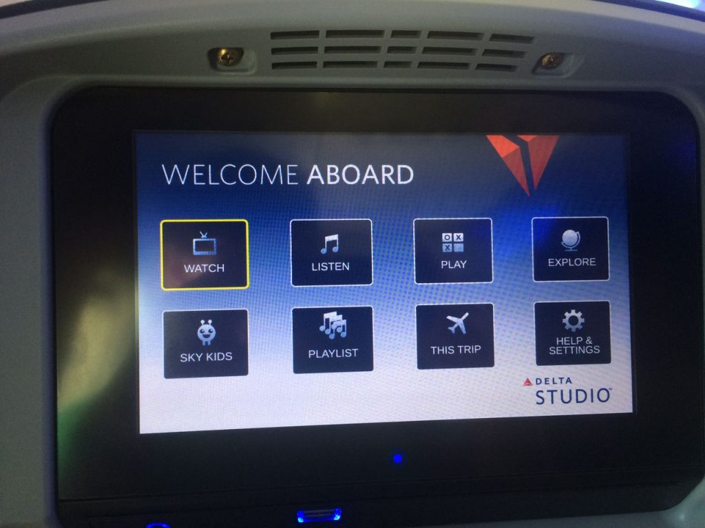 Delta Air Lines Boeing 757-200 Economy Class Inflight Amenities Delta Studio Photos