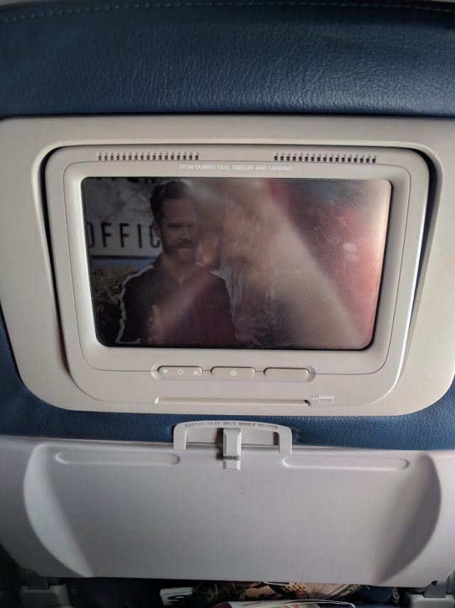 Delta Air Lines Boeing 757-200 Economy Class Seats Entertainment Screen Photos
