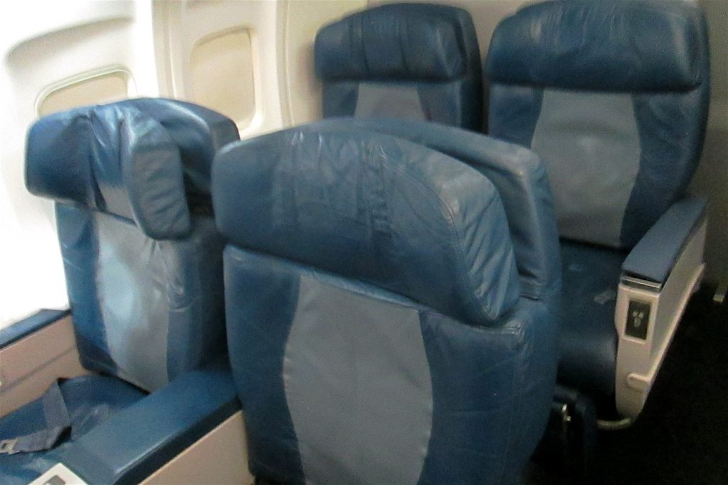 Delta Air Lines Boeing 757-200 First Class Cabin Old Seats Configuration Photos
