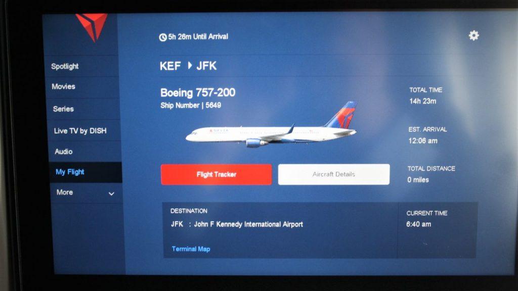 Delta Air Lines Boeing 757-200 Premium Economy (Comfort+) Class IFE system Photos