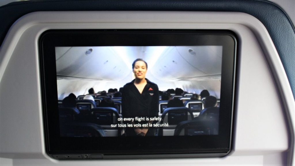 Delta Air Lines Boeing 757-200 Premium Economy (Comfort+) Class safety video played when taxied Photos