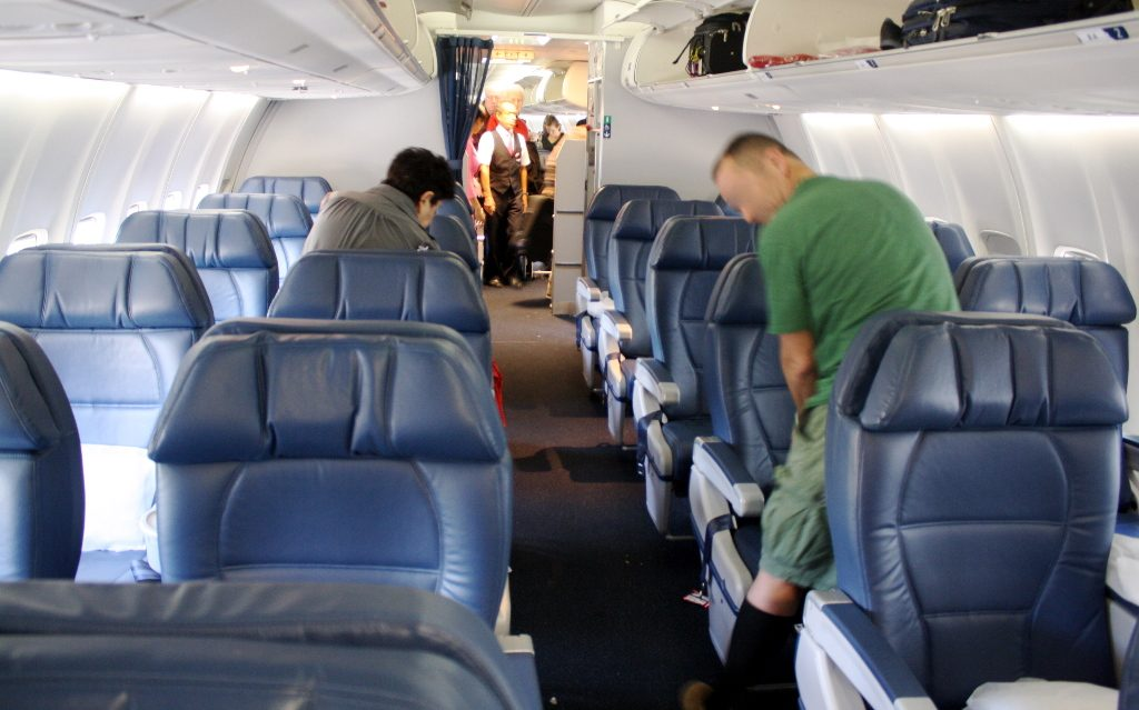 Delta Air Lines Boeing 757-300 first class cabin interior layout photos