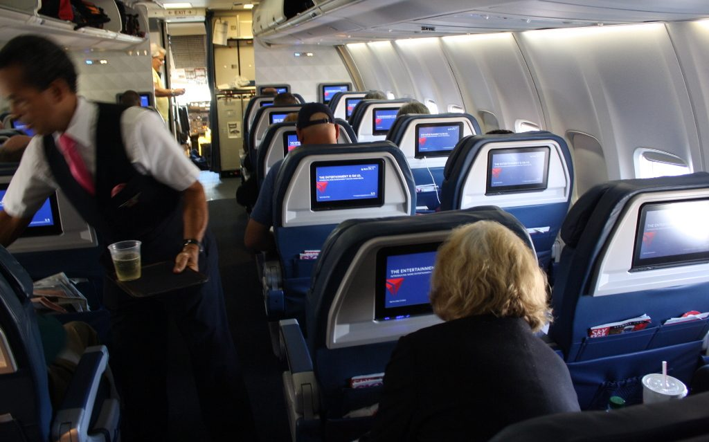 Delta Air Lines Boeing 757-300 refreshed first class cabins photos