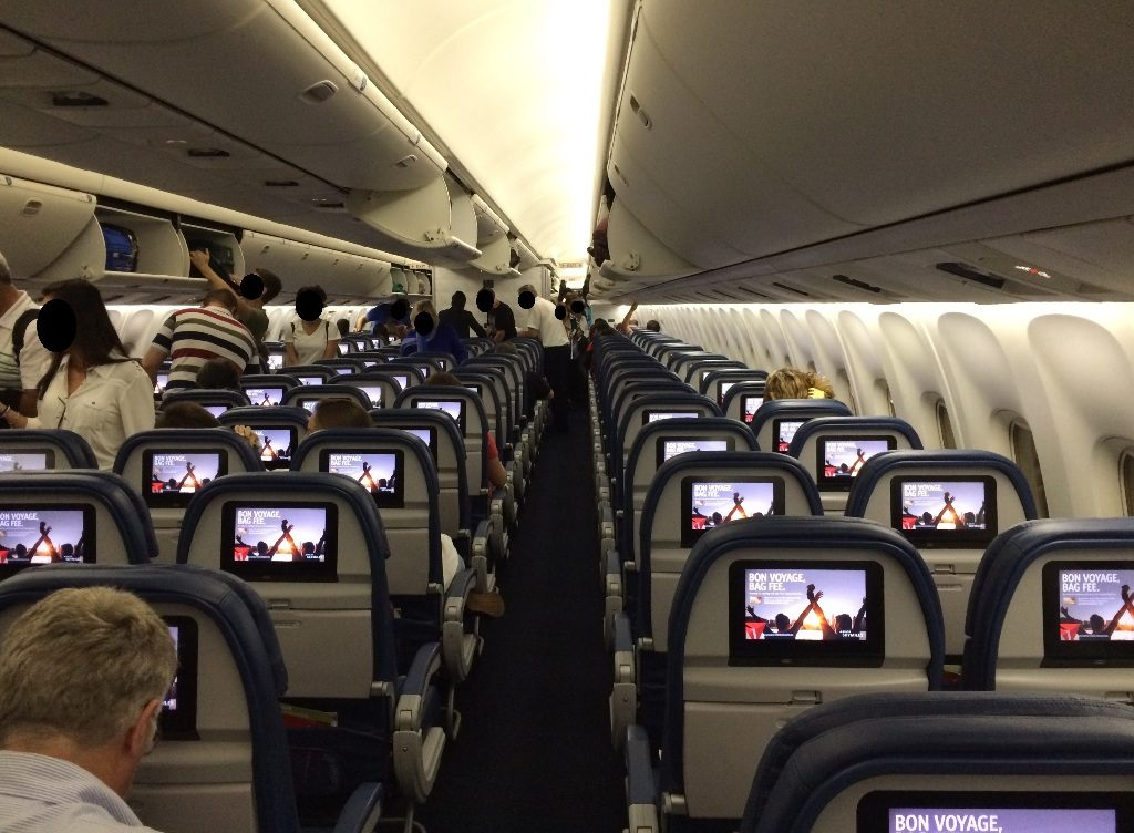 Delta Air Lines Boeing 767-300ER Main Cabin Economy Class Passenger Boarding Photos