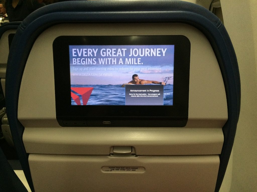 Delta Air Lines Boeing 767-300ER Main Cabin Economy Class Seats inflight entertainment system Photos