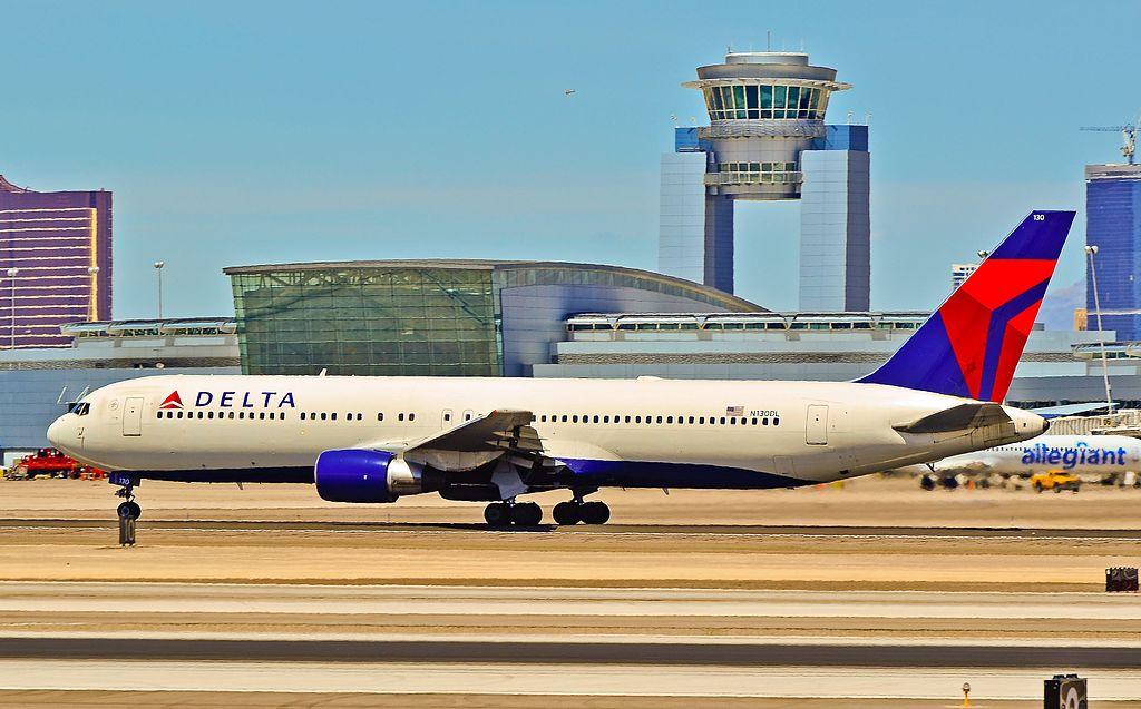 Delta Air Lines Boeing 767-332 N130DL - 130 (cn 24080-216) at Las Vegas - McCarran International (LAS : KLAS) USA - Nevada