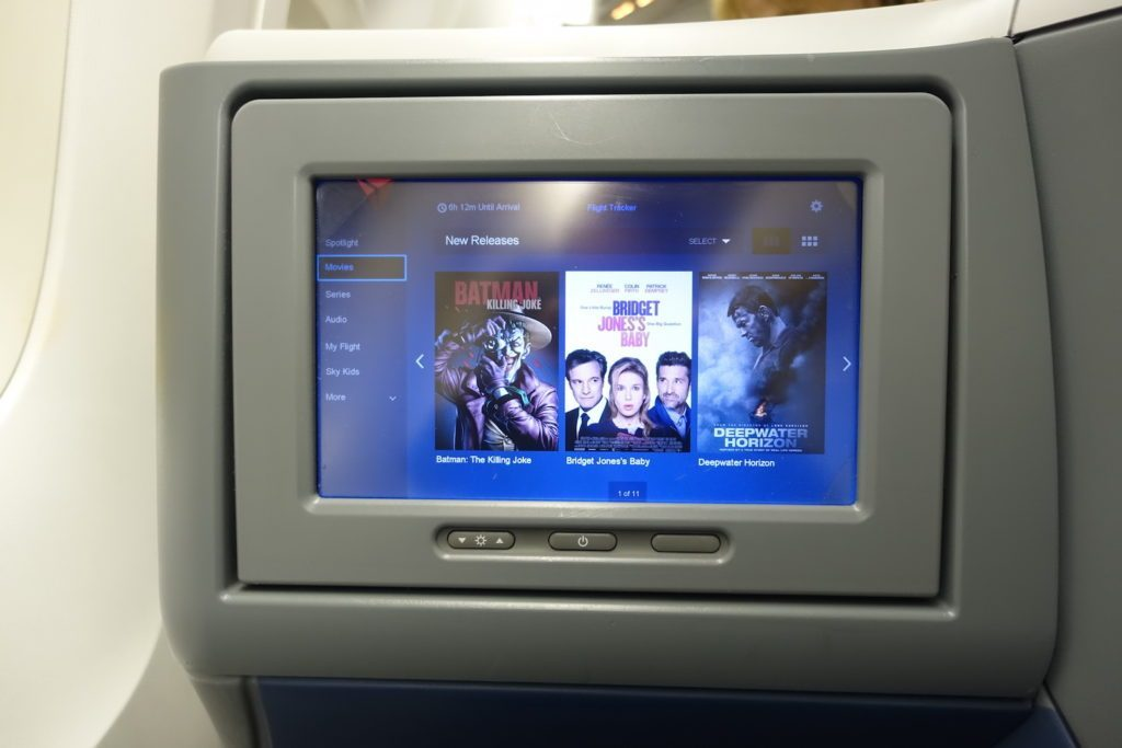 Delta Air Lines Boeing 767-400ER Business Class (DELTA ONE) Delta Studio system