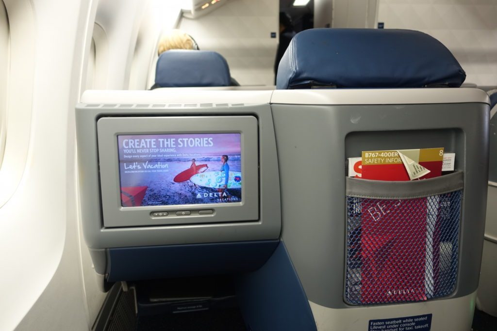 Delta Air Lines Boeing 767-400ER Business Class (DELTA ONE) Delta Studio, the airline's on-demand and streaming entertainment service