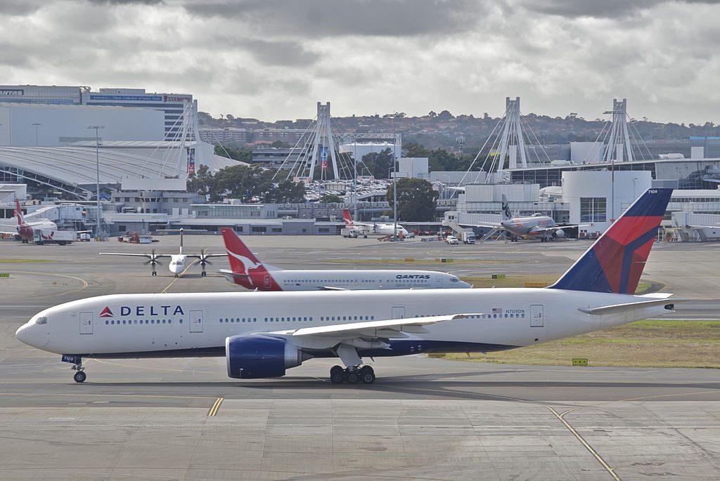 Delta Air Lines Boeing 777-200LR; N709DN @SYD Sydney (Kingsford Smith) Airport Australia