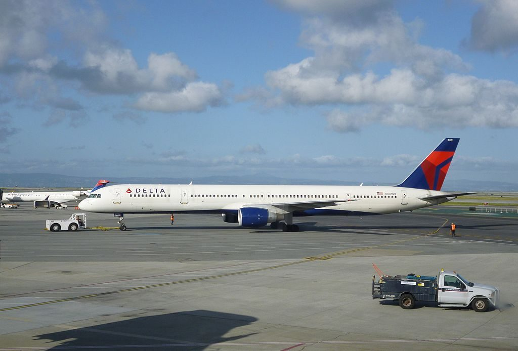 Delta Air Lines Fleet Boeing 757-300 number N581NW at San Francisco International Airport, USA