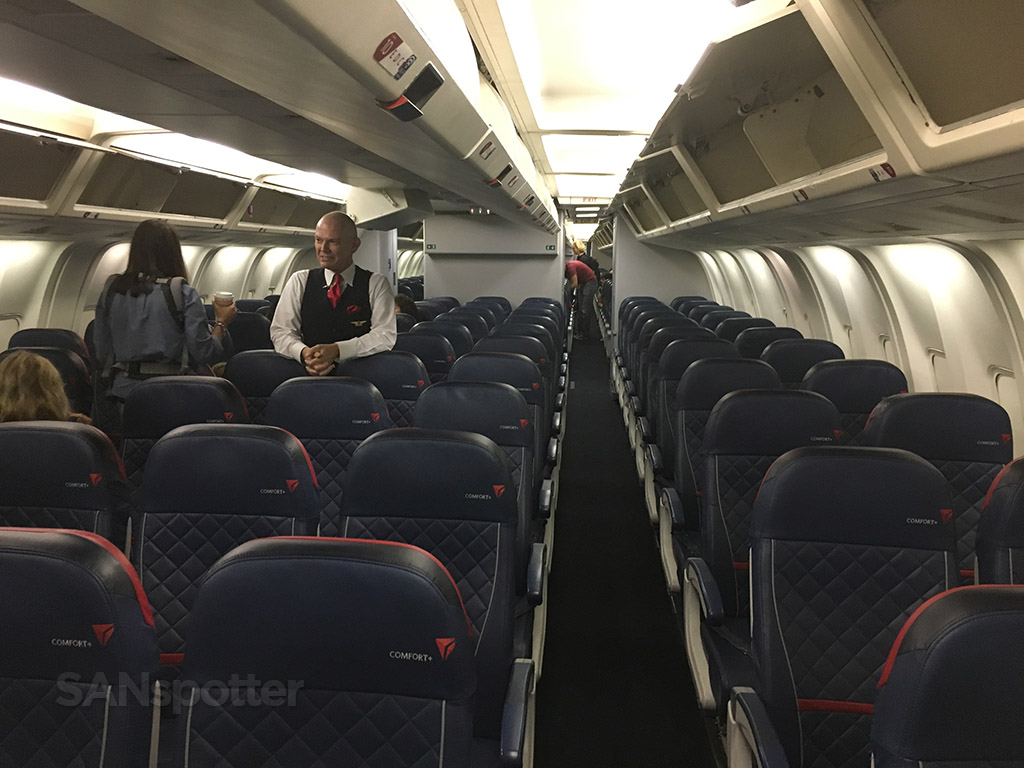 Delta Air Lines Fleet Boeing 767 300 Domestic Premium Economy Comfort Cabin And Seats Layout