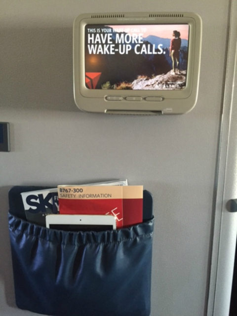 Delta Air Lines Fleet Boeing 767-300 domestic first class cabin old style IFE system photos