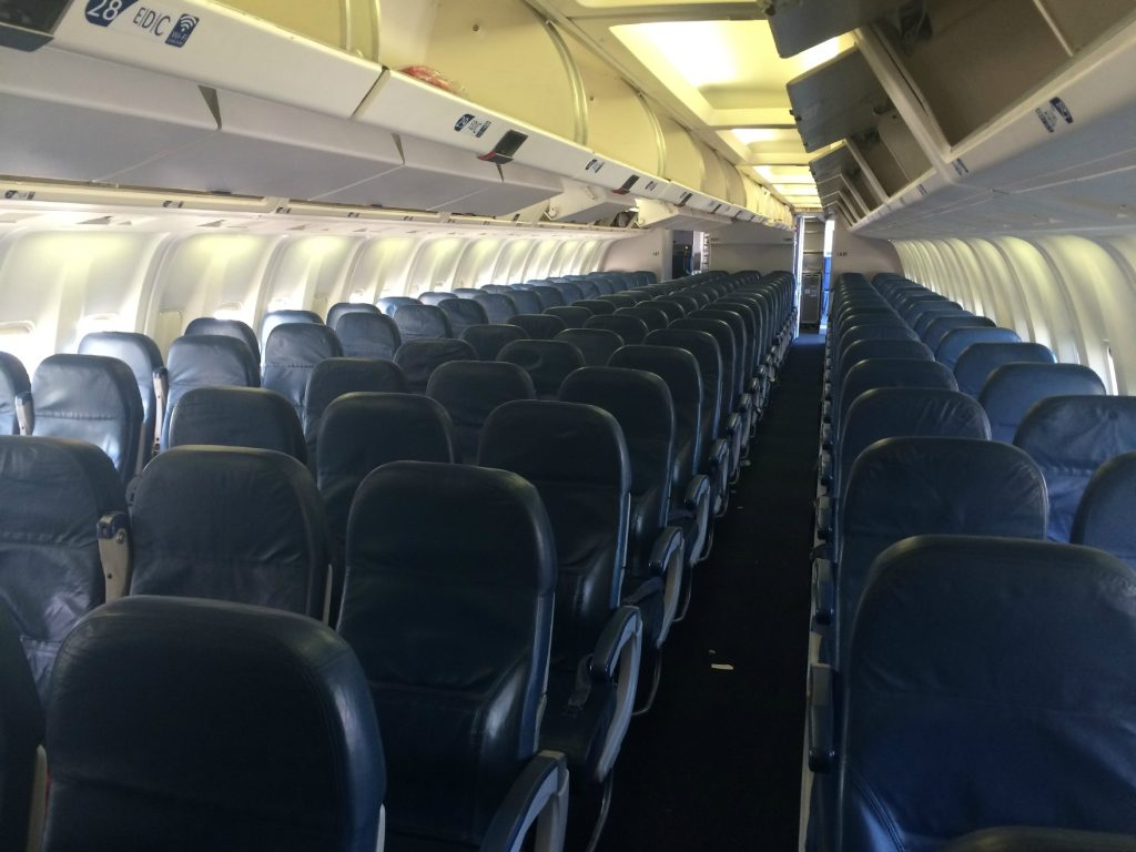 Delta Air Lines Fleet Boeing 767-300 domestic main cabin interior economy class 2-3-2 seats layout configuration photos