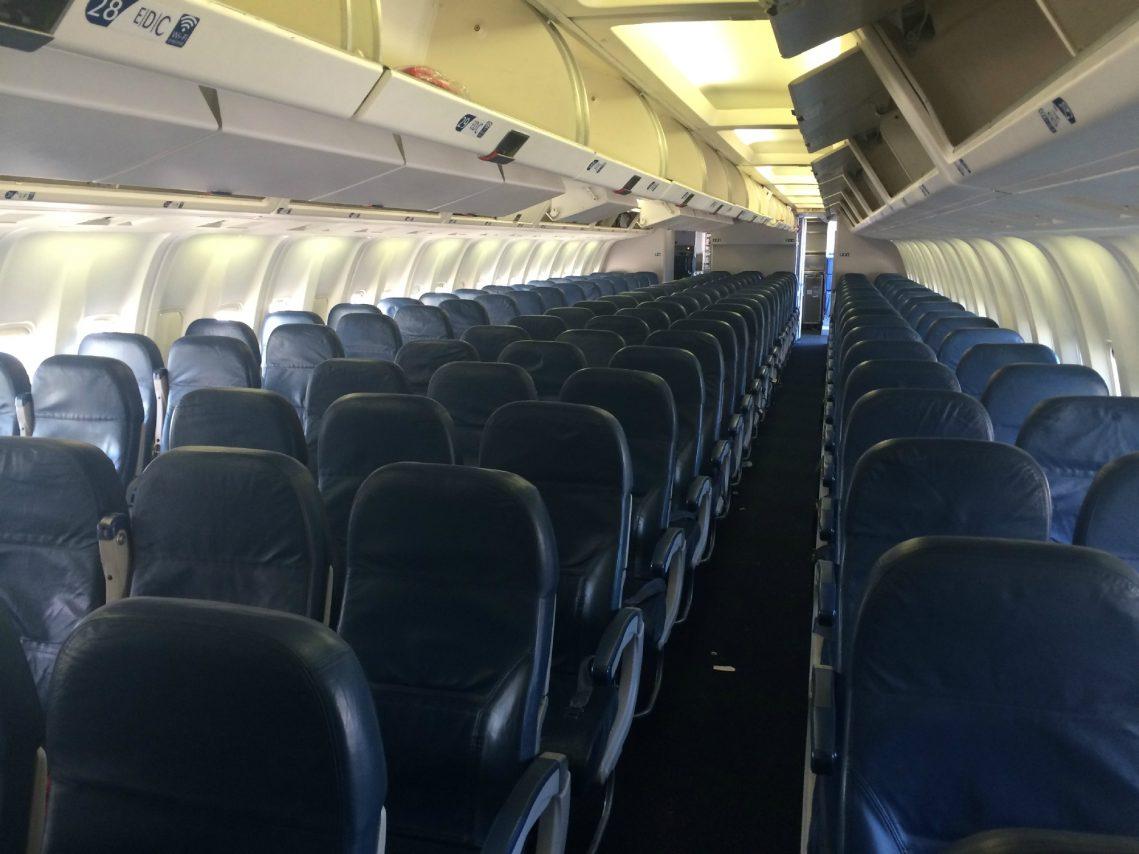 Delta Air Lines Fleet Boeing 767-300 domestic main cabin interior economy class 2-3-2 seats layout configuration photos