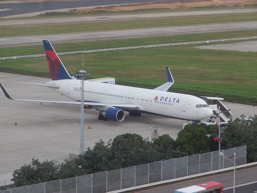 Delta Air Lines Fleet Boeing 767-300ER N181DN at TPE Taiwan Taoyuan International Airport