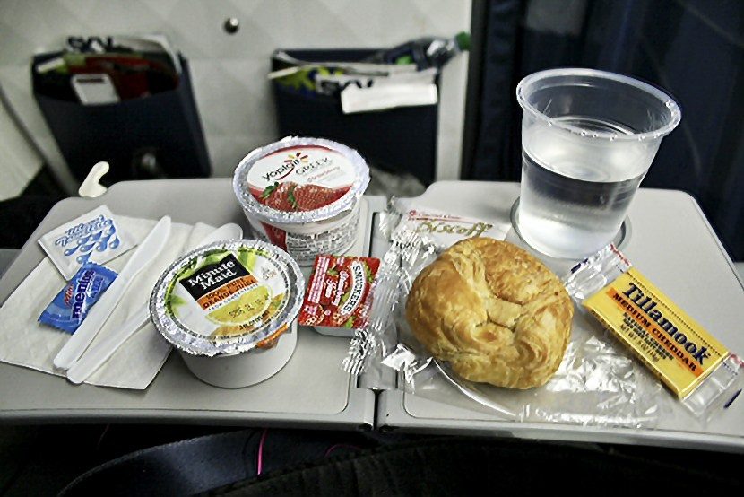 Delta Air Lines Fleet Boeing 767-300ER comfort+ (premium economy) cabin inflight amenities breakfast services photos