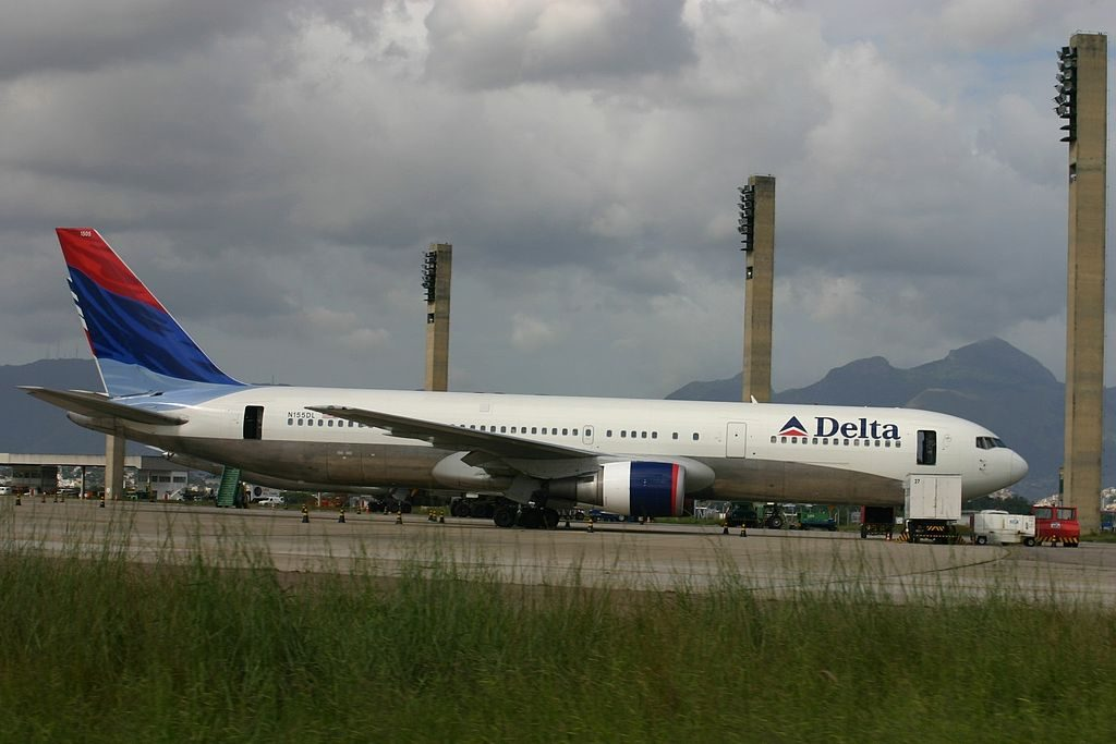 Delta Air Lines Fleet Boeing 767-3P6(ER) N155DL cn:serial number- 25269:390 at Rio de Janeiro–Galeão International Airport, Brazil
