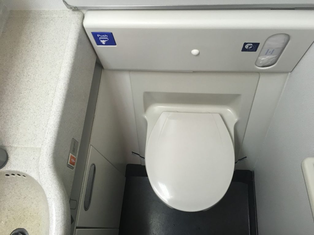 Delta Air Lines Fleet Boeing 777-200ER Premium Economy (Comfort+) bathroom photos