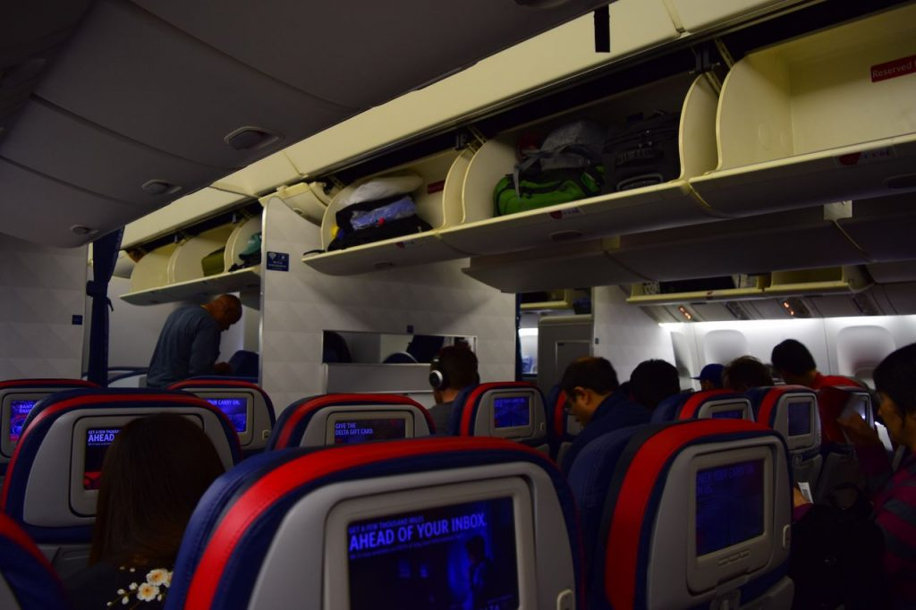 Delta Air Lines Fleet Boeing 777-200ER Premium Economy (Comfort+) cabin interior and seats row photos