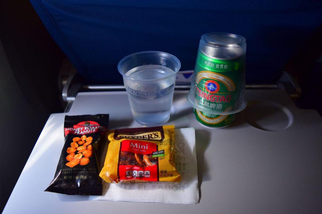 Delta Air Lines Fleet Boeing 777-200ER Premium Economy (Comfort+) inflight amenities aperitif service